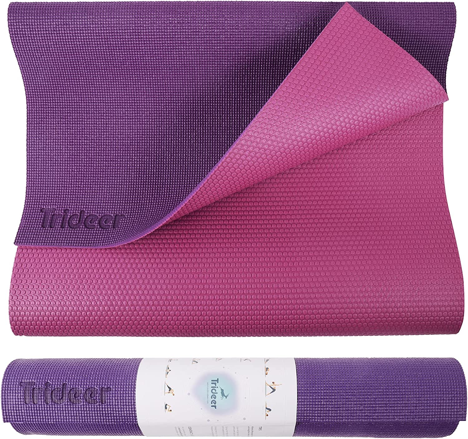 Trideer Overseas parallel Super popular specialty store import regular item 6 mm Thick Yoga Mat Exercise Non Slip wit Fitness