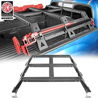 Tacoma High Bed Rack Cargo Carrier, Hi Lift Jack Brackets Spare Tire Load Truck Rack for 2005-2015 Toyota 2 Gen Tacoma