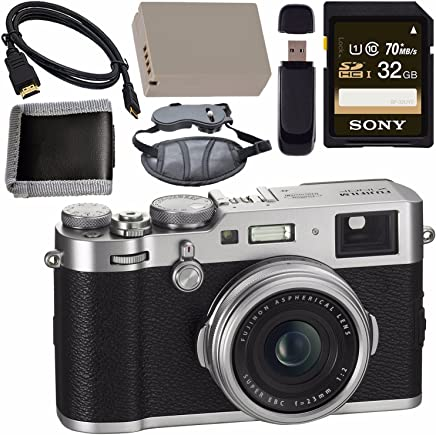 $1299 » Fujifilm X100F Digital Camera (Silver) 16534584 + NP-W126 Lithium Ion Battery + Sony 32GB SDHC Card + Micro HDMI Cable + Memory Card Wallet + Card Reader + Hand Strap Bundle