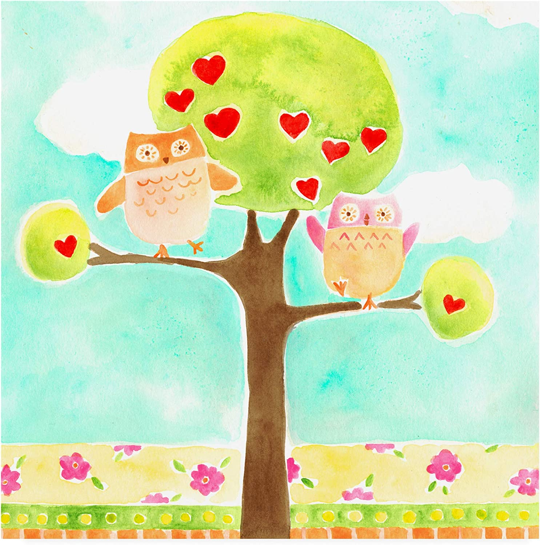 Trademark Fine Art WAG16237-C1414GG Hoots & Hearts I by June Erica Vess, 14x14