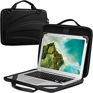 FINPAC 13-14 Inch Chromebook Sleeve Case - Protective Briefcase Shoulder Bag with Accessory Pouch for Up to 14