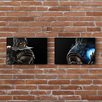 Mortal Kombat 11 Painting Set - Scorpion - Sub-Zero - Art Prints - Wall Decor - Posters - Gift (4x6-11x17 IN)