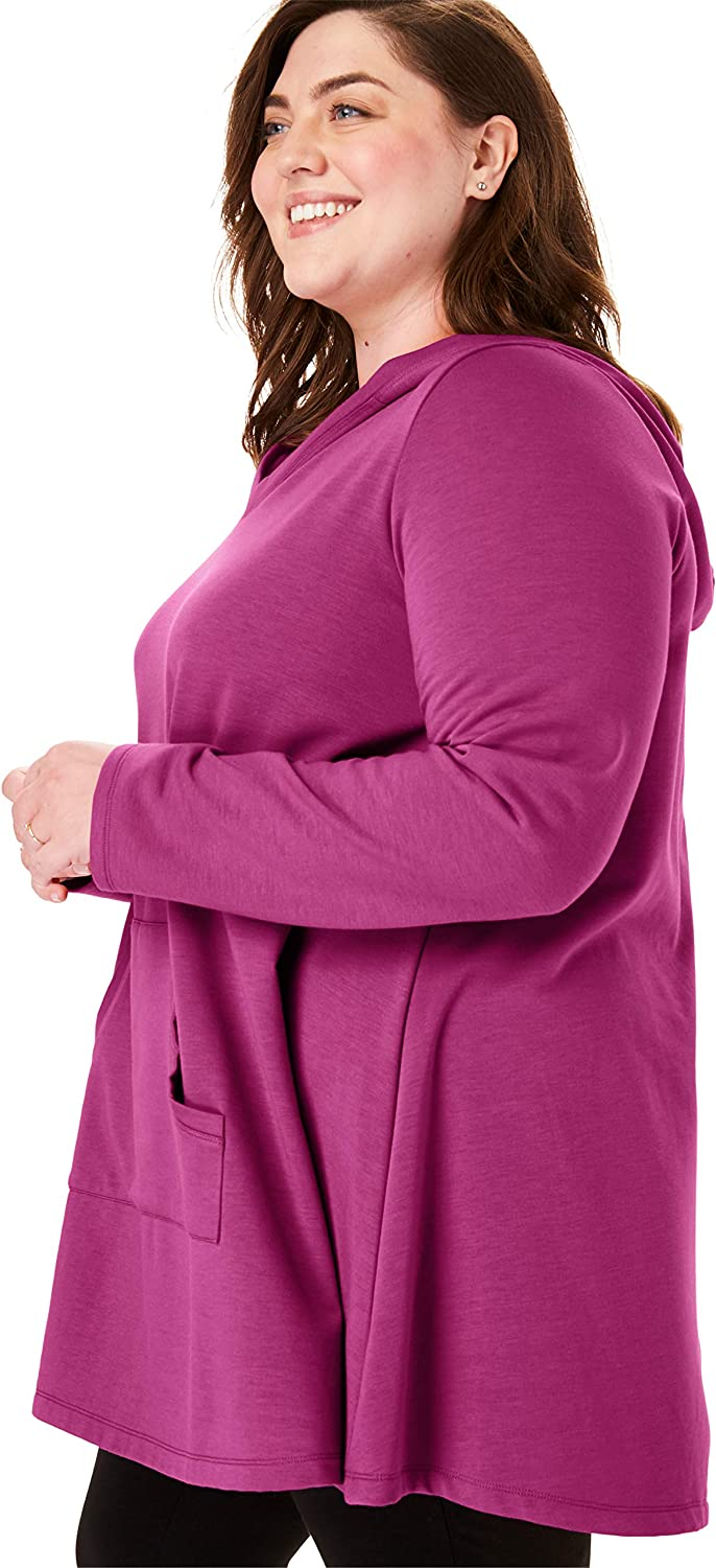 Woman Within Women's Plus Size Hooded Tunic