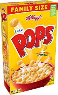Kellogg's Corn Pops Breakfast Cereal, Original Family Size, 19.1 Oz (Pack of 6)