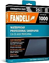 Fandeli 36005 1000 hojas de papel de lija impermeables, 9 x 11 pulgadas, 25 hojas