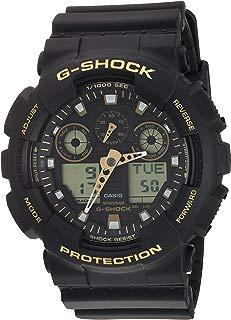 Casio Men's Japanese Quartz Watch with Silicone Strap, Black, 23 (Model: GA-100GBX-1A9)