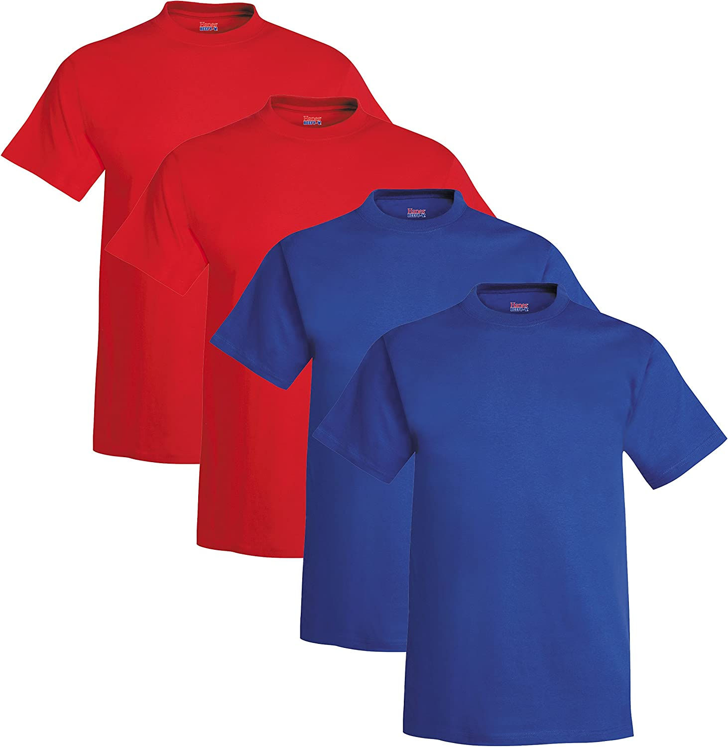 Hanes safety Men's Limited price sale Beefy-T Short Sleeve of Pack T-Shirt 4