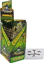 KingPin Pure Hemp Original G Flavored Wraps (Box of 25 Packs, 4 Wraps Per Pack) with ES Scoop Card