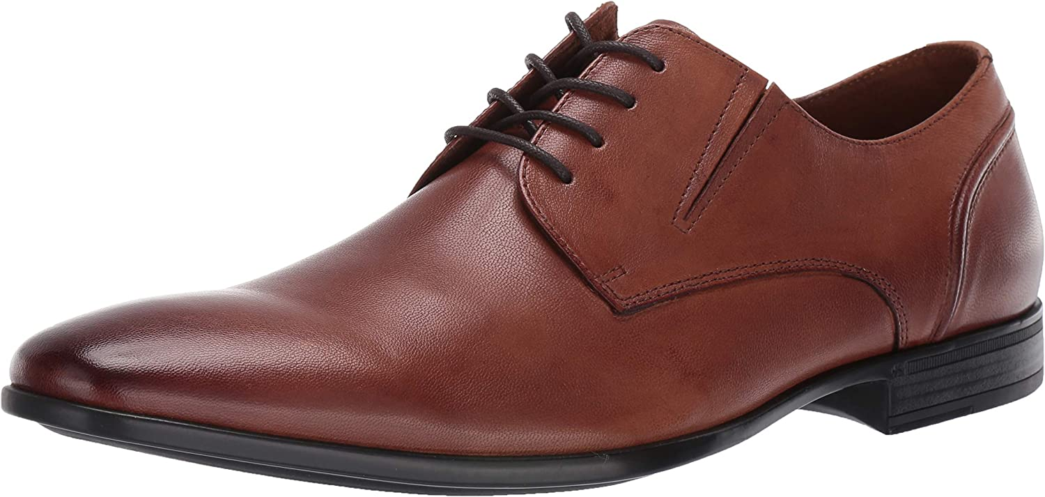 Kenneth Cole Reaction Men's Edison Lace Up B with Elastic Vents Easy Off Wear Oxford