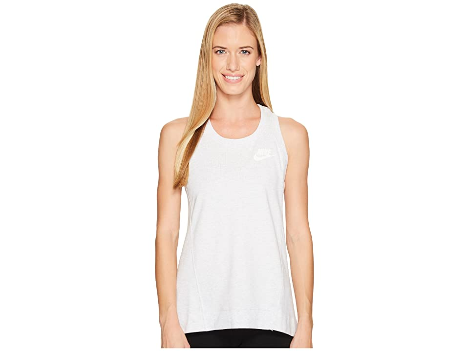 Nike Sportswear Gym Classic Tank (Birch Heather/Sail) Women