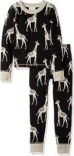 Masala Kids Boys' Organic Pjs Long Sleeve Giraffe