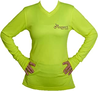 Respect My Lane Womens Reflective High-Visibility Dry-Fit Commuter Cycling Jersey