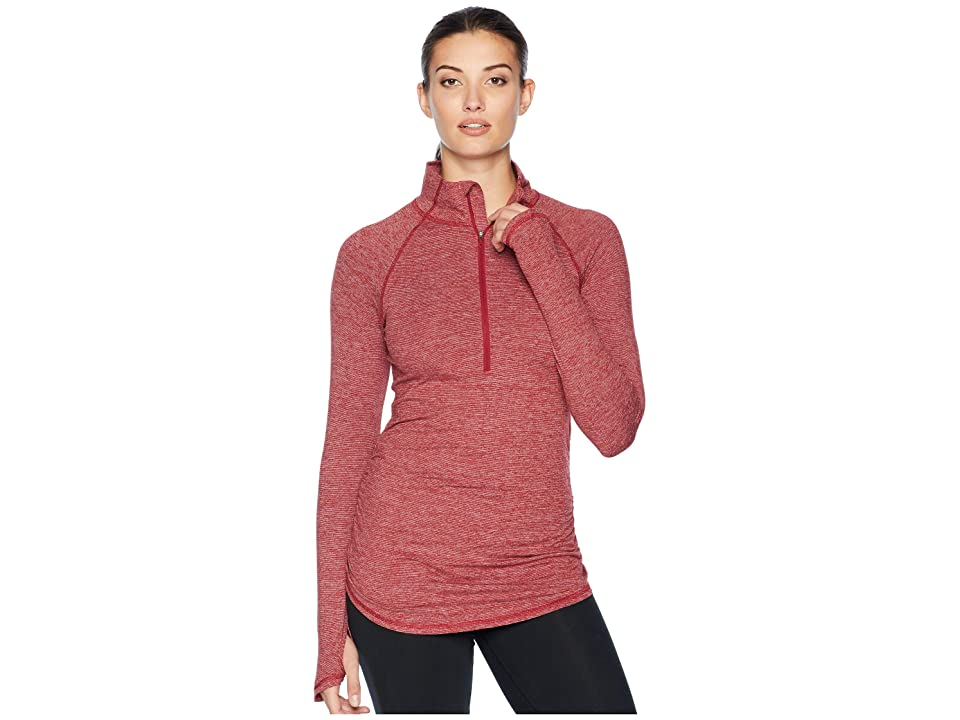 The North Face Motivation Stripe 1/2 Zip (Rumba Red Micro Stripe) Women