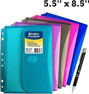 C-line Mini 5.5 x 8.5 Poly Binder Pocket w/ Hook Loop Closure, with Custom AOP Pen