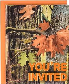 Creative Converting 895676 Hunting Camo Invitations, One Size, Multicolor