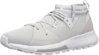adidas Women's Quesa Running Shoe,  White/Grey,  6 M US