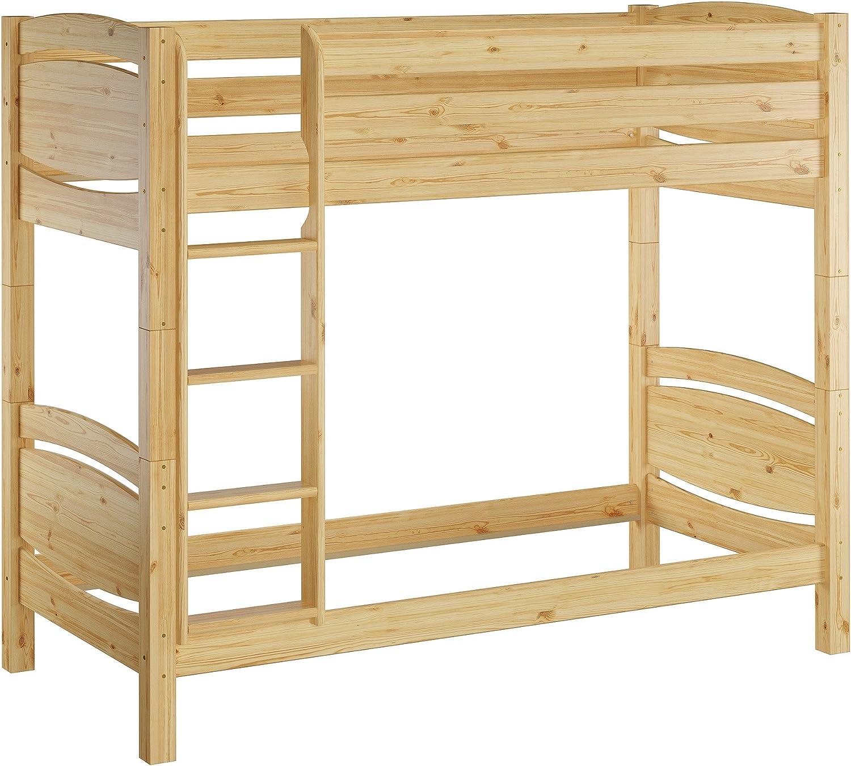 Erst-Holz Etagenbett Massivholz Kiefer 90x200cm Stockbett hohes Bett 60.13-09 Ni100 oR