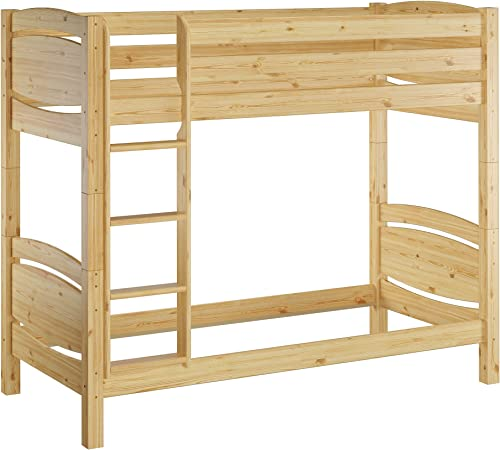 Erst-Holz tagenbett Massivholz Kiefer 90x20cm   Stückbett hohes Bett 60.13-09 Ni100 oR