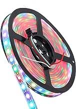 INVOLT 300 Pixel WS2812B Digital Individually Addressable LED Strip, Multi-Colored IP67 Waterproof 16.4FT Black PCB, 5050 RGB Magic Dream Color Rope Light DC 5V 60IC-60LED/M