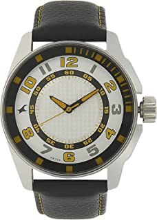 Men's Casual Wrist Watch with Analog Function,Quartz Mineral Glass, Water Resistant Leather Strap
