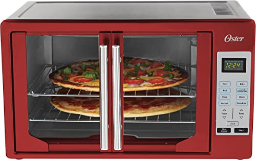 wholesale Oster lowest French new arrival Door Toaster Oven, Extra Large, Red outlet sale