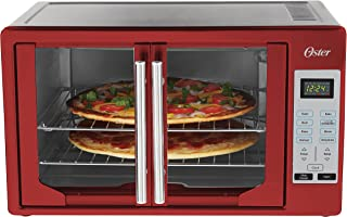 Oster TSSTTVFDDG-R French Door Toaster Oven, Extra Large, Red