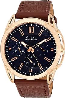 Guess Vertex Mens Analog Japanese Quartz Watch with Leather Bracelet W1217G2