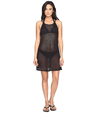 Prana Page Dress Cover-Up (Solid Black) Women