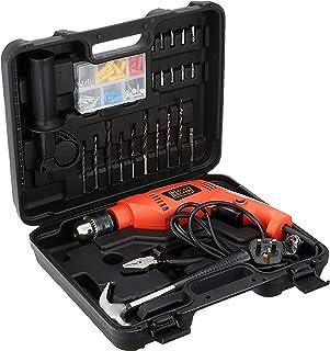 Black & Decker HD555KOPR-XD 550W Home Starter Drill, 88-Piece Tool & ACC Set