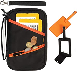 Family Passport Holder and Travel Wallet - RFID Blocking Document Organizer