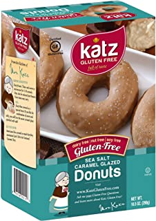Katz Gluten Free Sea Salt Caramel Donuts   Dairy Free, Nut Free, Soy Free, Gluten Free   Kosher (1 Pack of 6 Donuts, 10.5 Ounce)