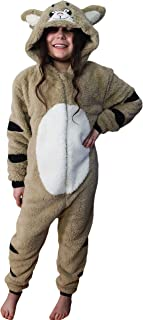 d4e3d217c4d31 Wunsy Grenouillère Combinaison-Pyjama Onesie Animal Pour Enfants Garçons Et  Filles - Singe, Carlin