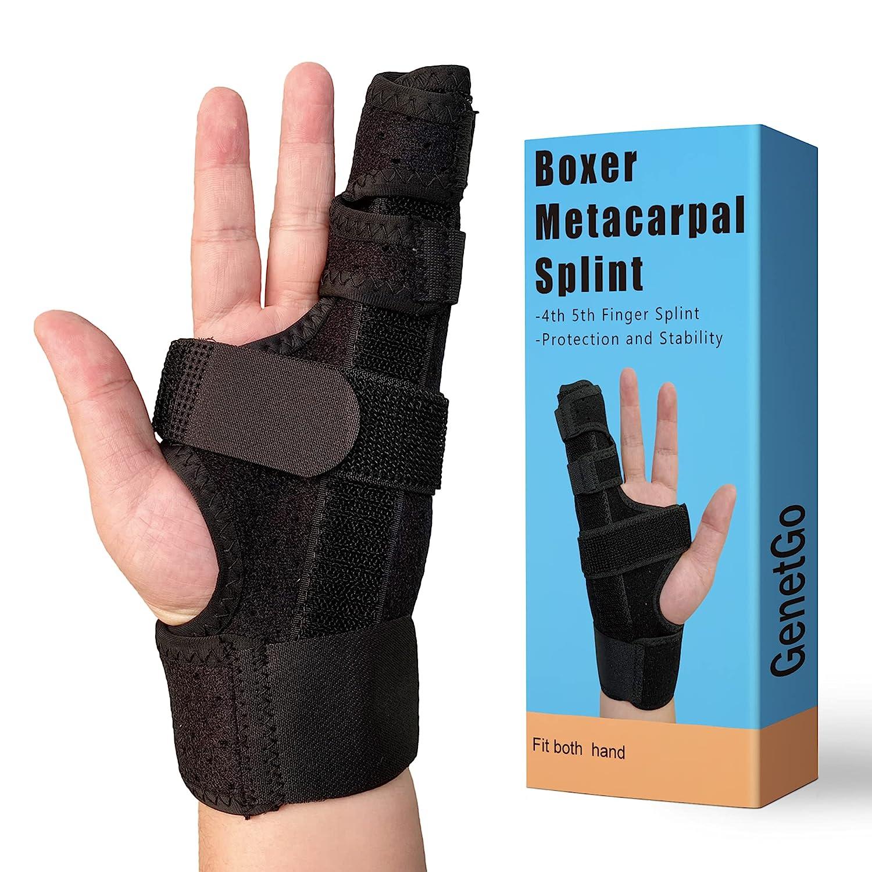 Free shipping on posting reviews GenetGo Boxer Break Metacarpal Splint Brace Max 73% OFF 4th or - 5th Finger