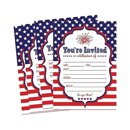 4th Of July Invitations Amazon Com