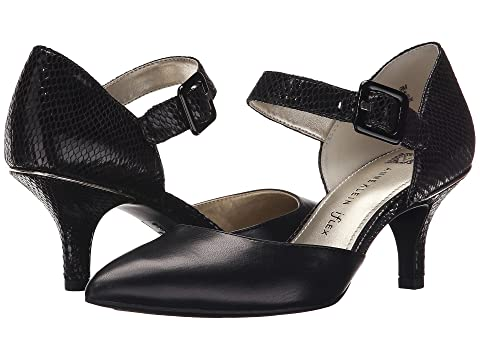 Womens Shoes Anne Klein AKFinale Black/Black Fabric