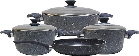 Tyrkish Granite cookware set 7 pcs - Steel Lids