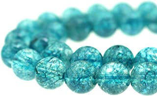 GoodBead 10mm Mediterranean Blue Topaz Quartz Round Polished Beads 15.5