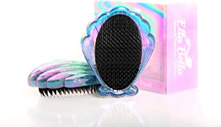 The original, magical, mermaid sea shell hair brush for wet & dry hair - a shiny, sparkling hairbrush for girls, to end al...