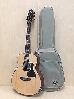 "37"" Caraya P-301210EQ Arch-Back Spruce Top Parlor Travel Guitar, EQ +HD Canvas Bag"