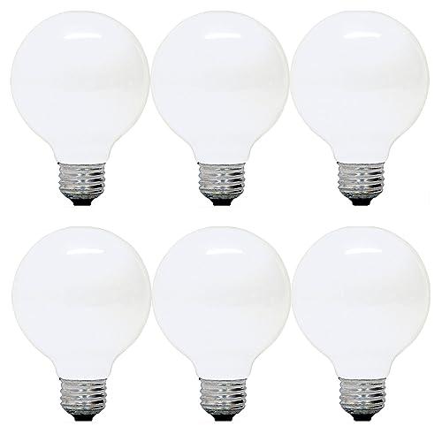 GE Lighting 12979 40-Watt G25 Incandescent Globe Light Bulb, Soft White, 6