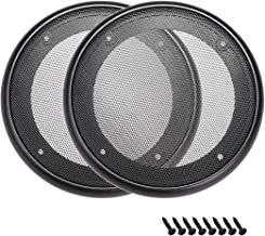 uxcell 2pcs 6.5 inches Speaker Grill Mesh Decorative Circle Woofer Guard Protector Cover Audio Accessories