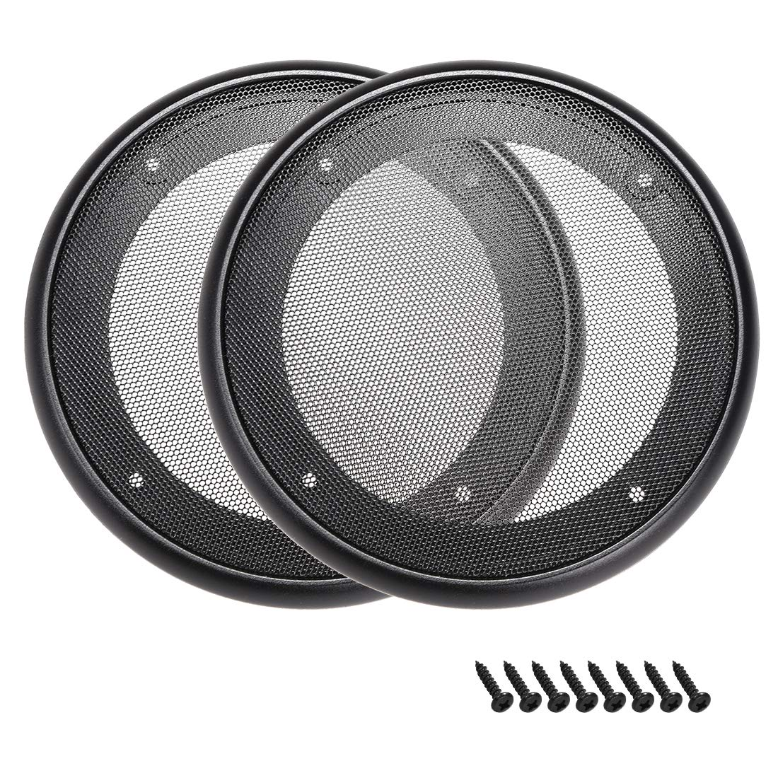 Easy Installation and Dismantling 2-PCS Black Colour CT Sounds 6.5 Inch Car Audio Speaker Grills Rustproof Dust Resistance