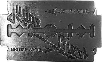 Shirtmatic Judas Heavy Metal British Steel Priest Razor Band Buckle - Hebilla para cinturón