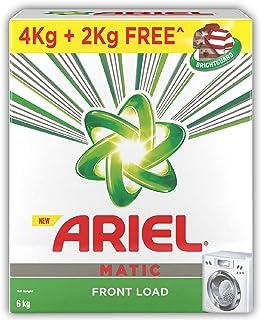 Ariel Matic Front Load Detergent Washing Powder - 4 kg with Free Detergent Powder - 2 kg