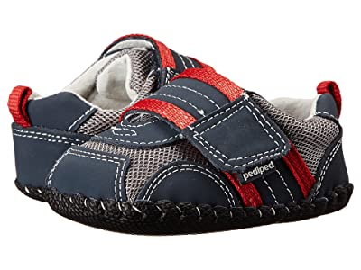 pediped Adrian Original (Infant) (Navy/Grey/Red) Boy