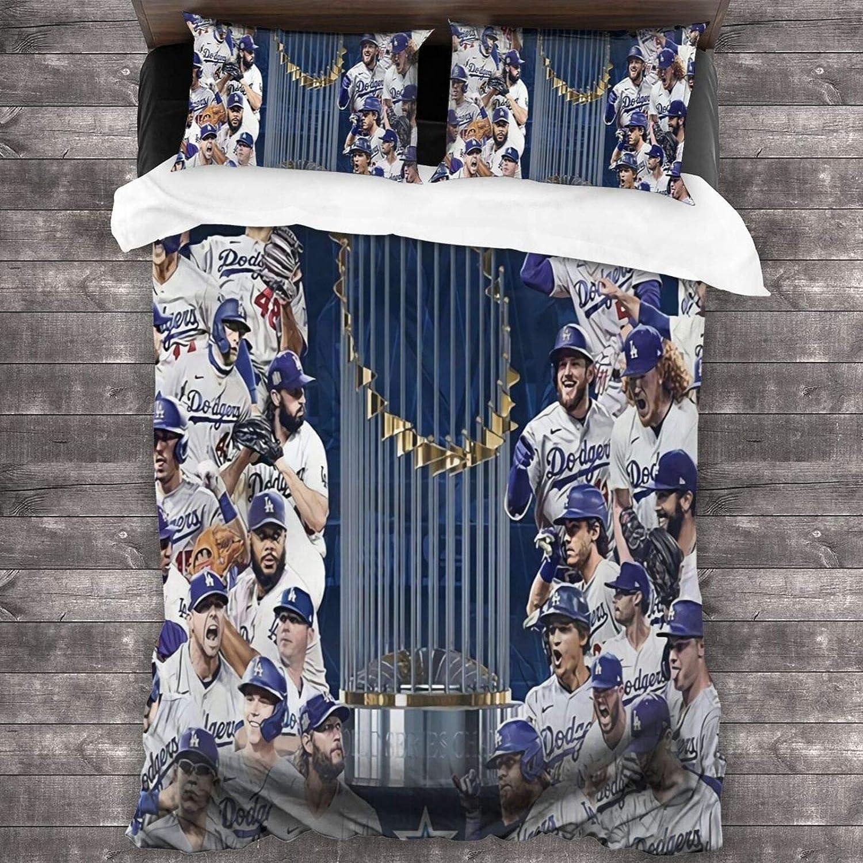 人気上昇中 Wabaodan Dodgers-Angeles 受注生産品 Boutique 3 Piece Sheet Set All-Seas Bed