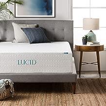 LUCID 14 Inch Memory Foam Mattress - Triple-Layer - Ventilated Gel Memory Foam - CertiPUR- Certified - 10-Year Warranty - Twin XL