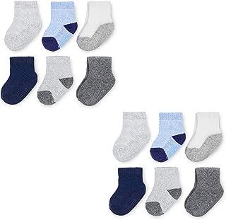 Baby 12-Pack Breathable Crew-Length Socks -Cooling Mesh - Unisex, Girls, Boys