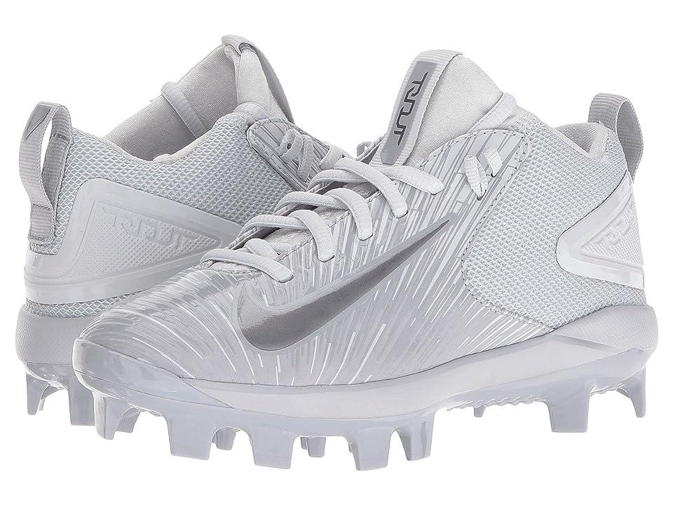 Nike Kids Trout 3 Pro BG Cleated Baseball (Big Kid) (Wolf Grey/Pure Platinum/Metallic Dark Grey) Kids Shoes