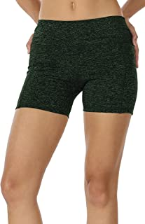 icyzone Workout Running Shorts for Women - Yoga Exercise Athletic Shorts Capris
